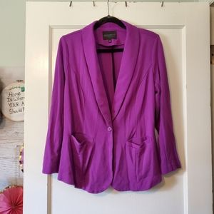 Eloquii Knit Blazer Purple size 14